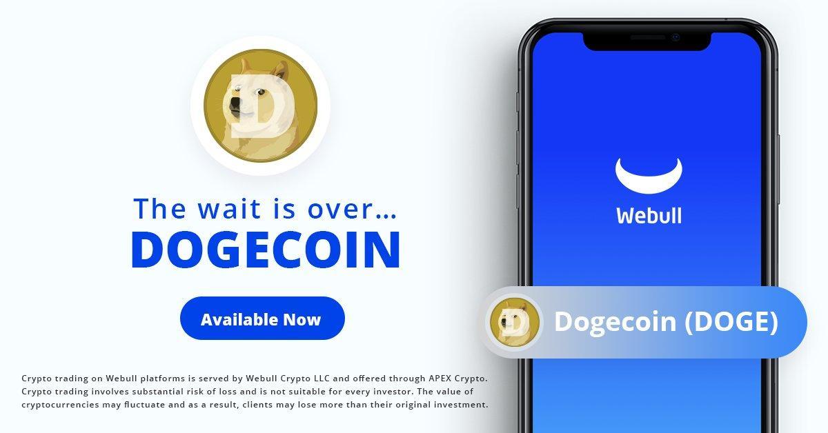 dogecoin webull