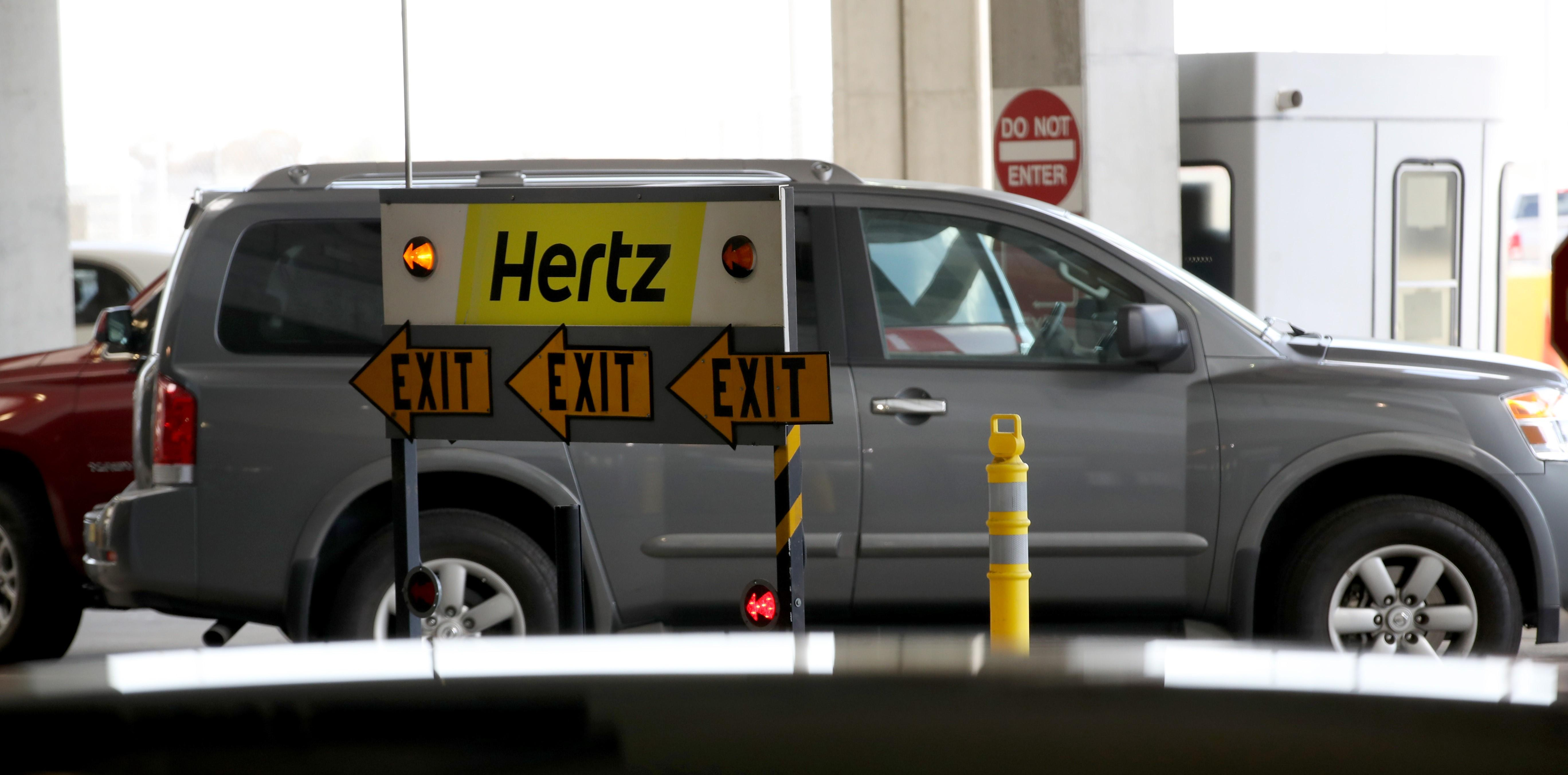 Hertz exit sign