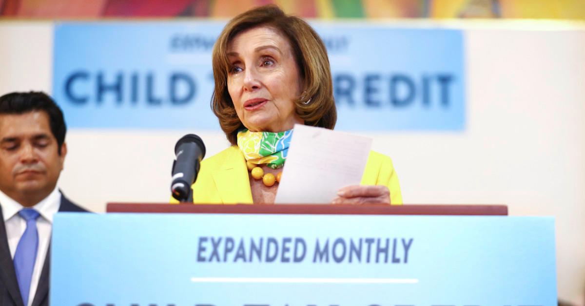 Nancy Pelosi talks about the Child Tax Credit