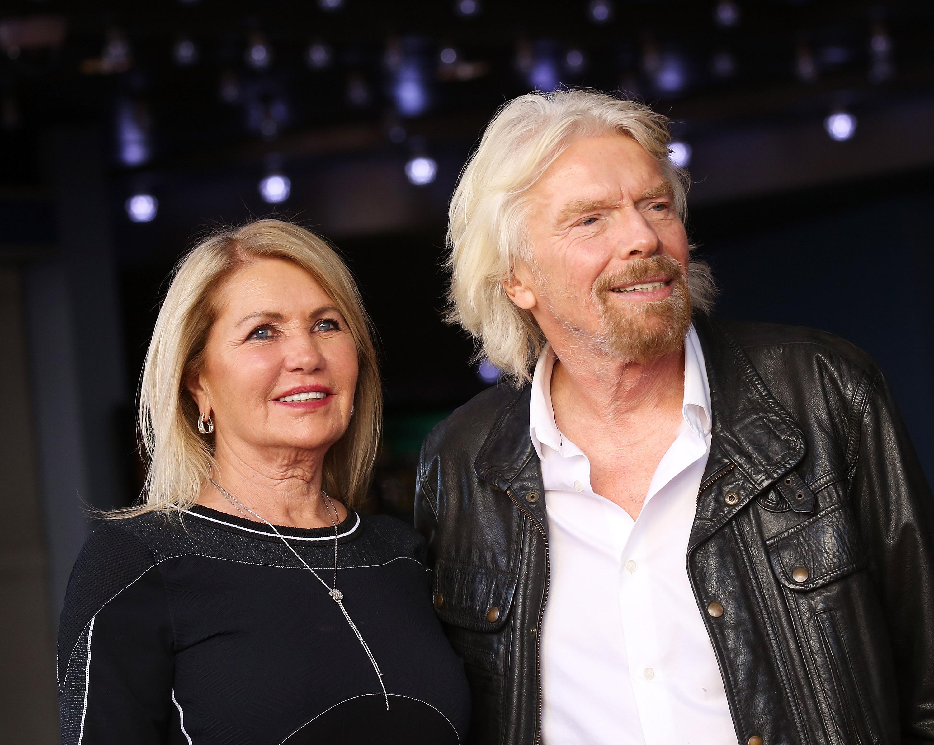 Joan Templeman and Sir Richard Branson