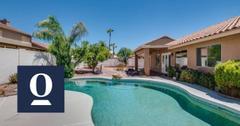 House with a backyard pool