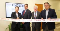 Stéphane Bancel at Moderna's ribbon-cutting ceremony