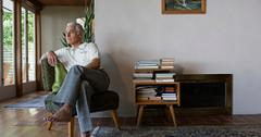 Retired man at home