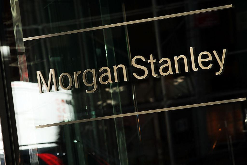 Morgan Stanley name on a window