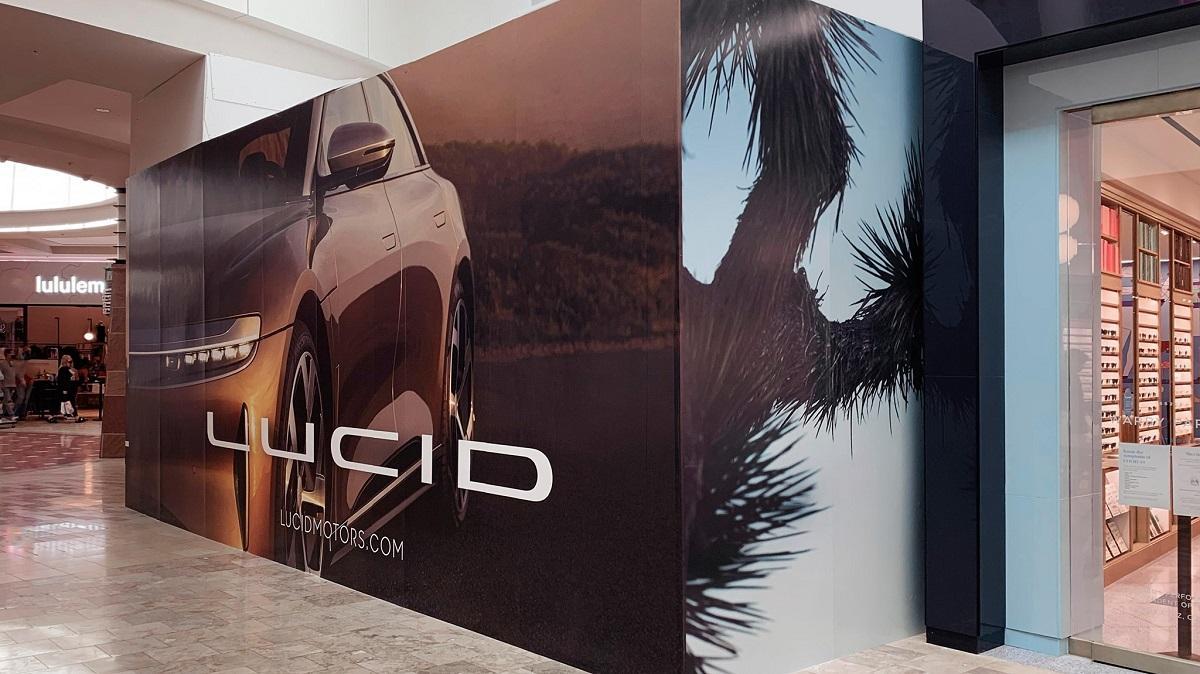A Lucid Motors billboard