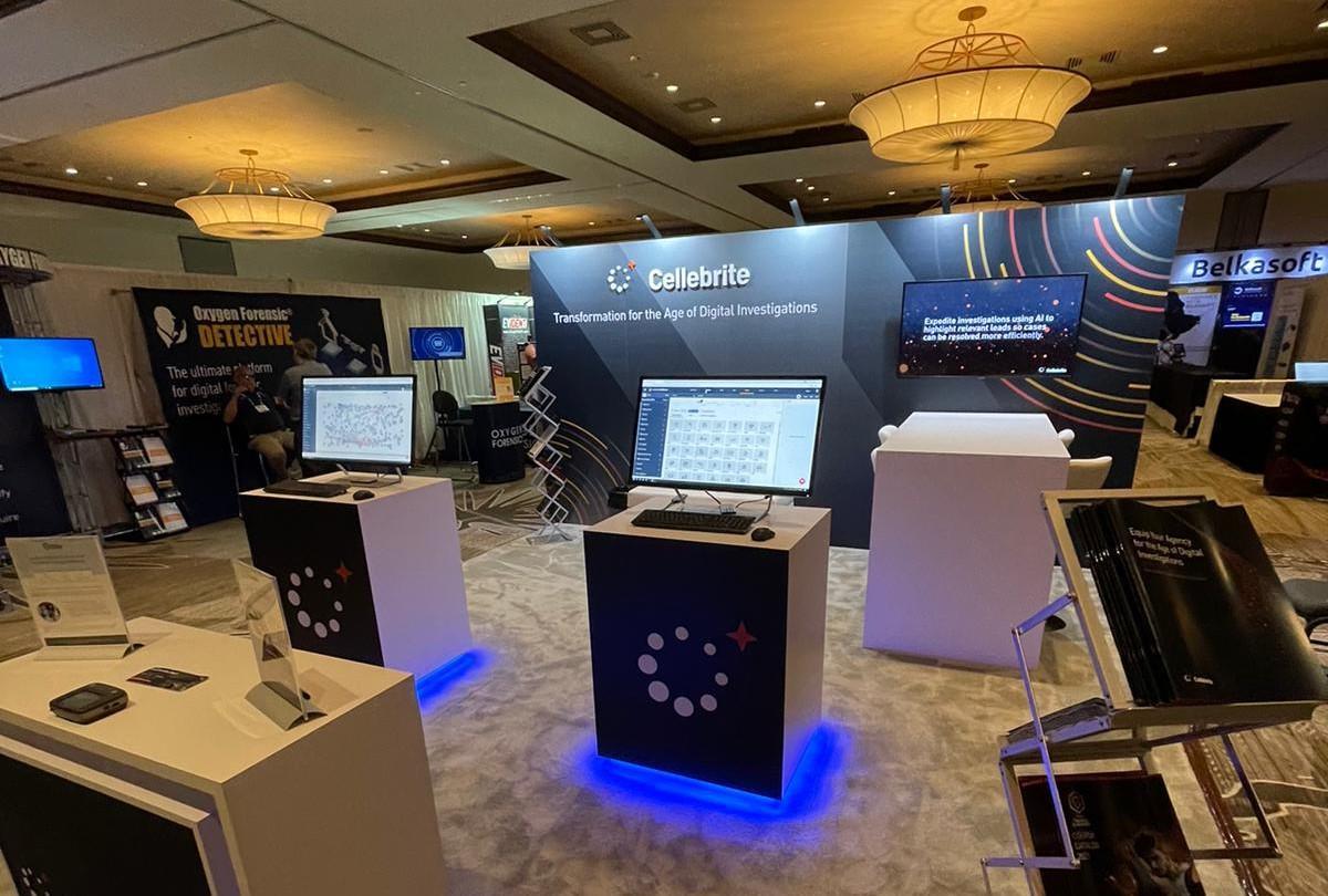 Cellebrite conference display