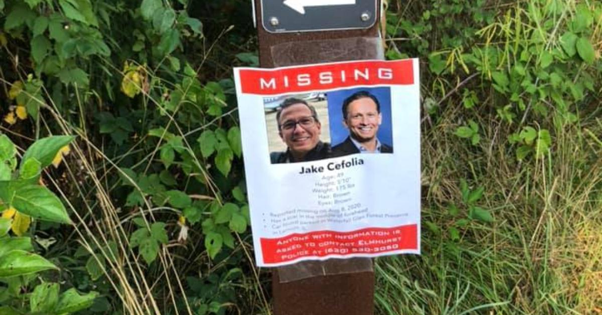 A missing poster for Jake Cefolia