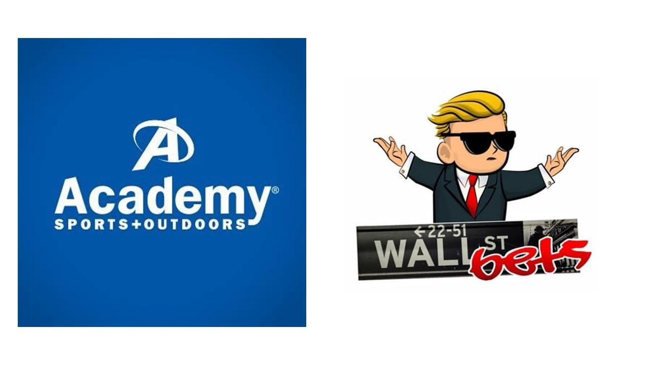 Academy Sports and WallStreetBets logos