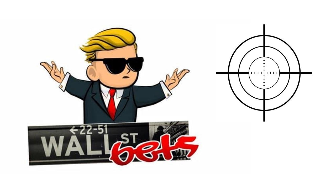 WallStreetBets logo and a target
