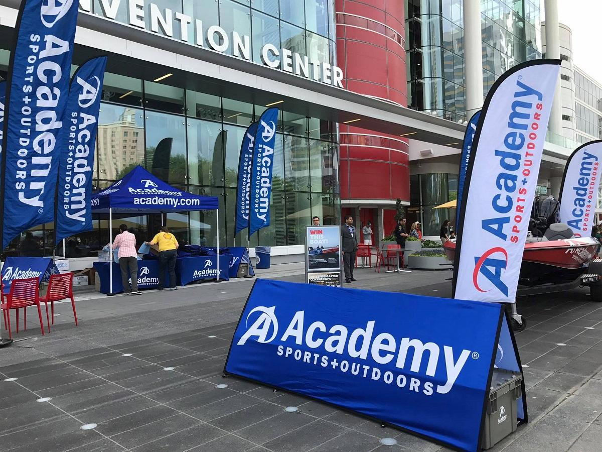 Academy Sports tents and flags