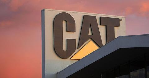 why is caterpillar stock going up