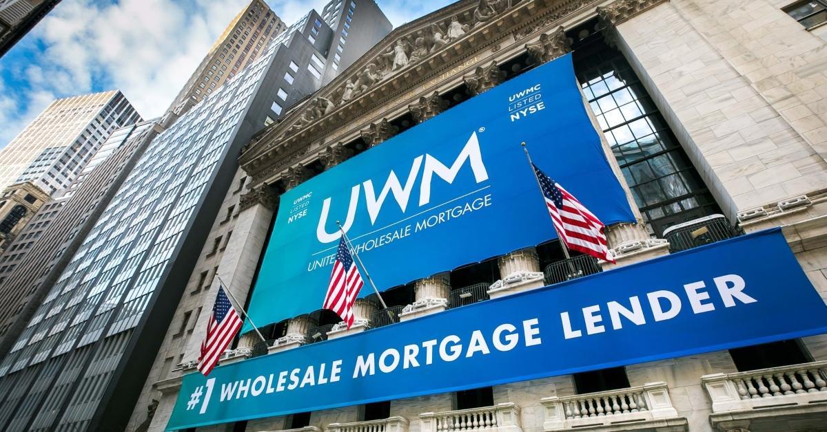 UWM banner on Wall Street