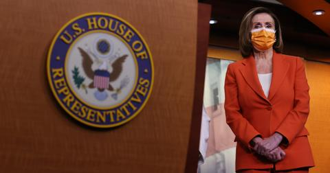 Nancy Pelosi after government finished passing bill for third round of stimulus