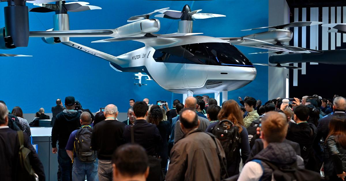 Electric air taxi on display