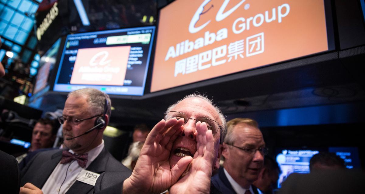 Alibaba stock trading on U.S. exchanges