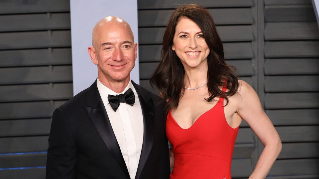 Jeff Bezos et MacKenzie Scott