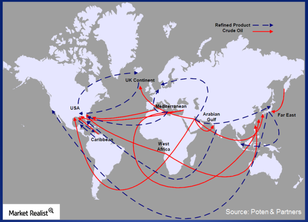 Crude and Product Tanker Routes