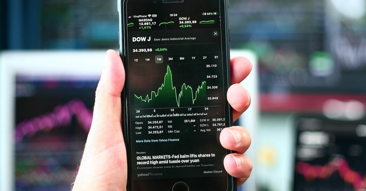 Stock on a smartphone