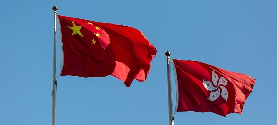 drapeau de la chine hong kong