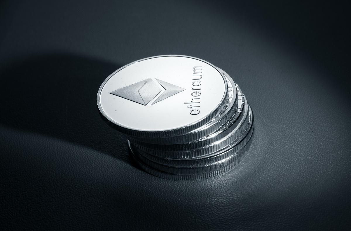 Stack of Ethereum tokens