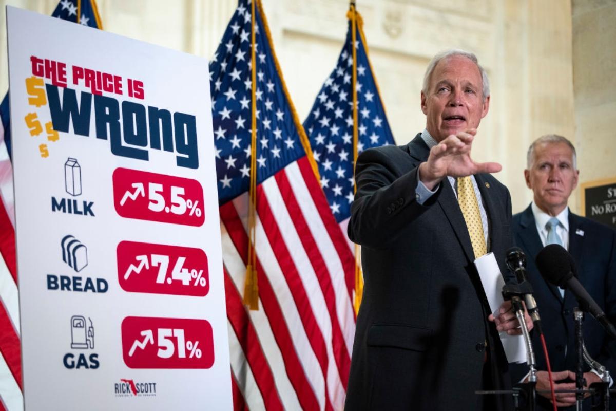 Senator Ron Johnson (D-WI) discussing rising inflation